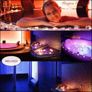 Užijte si exkluzivně soukromou vířivku! Dále můžete využít saunový svět, různé druhy masáží a zábalů.