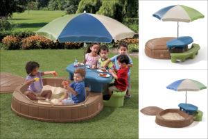 Zahradní pískoviště se stane středobodem her vašich dětí i jejich kamarádů.