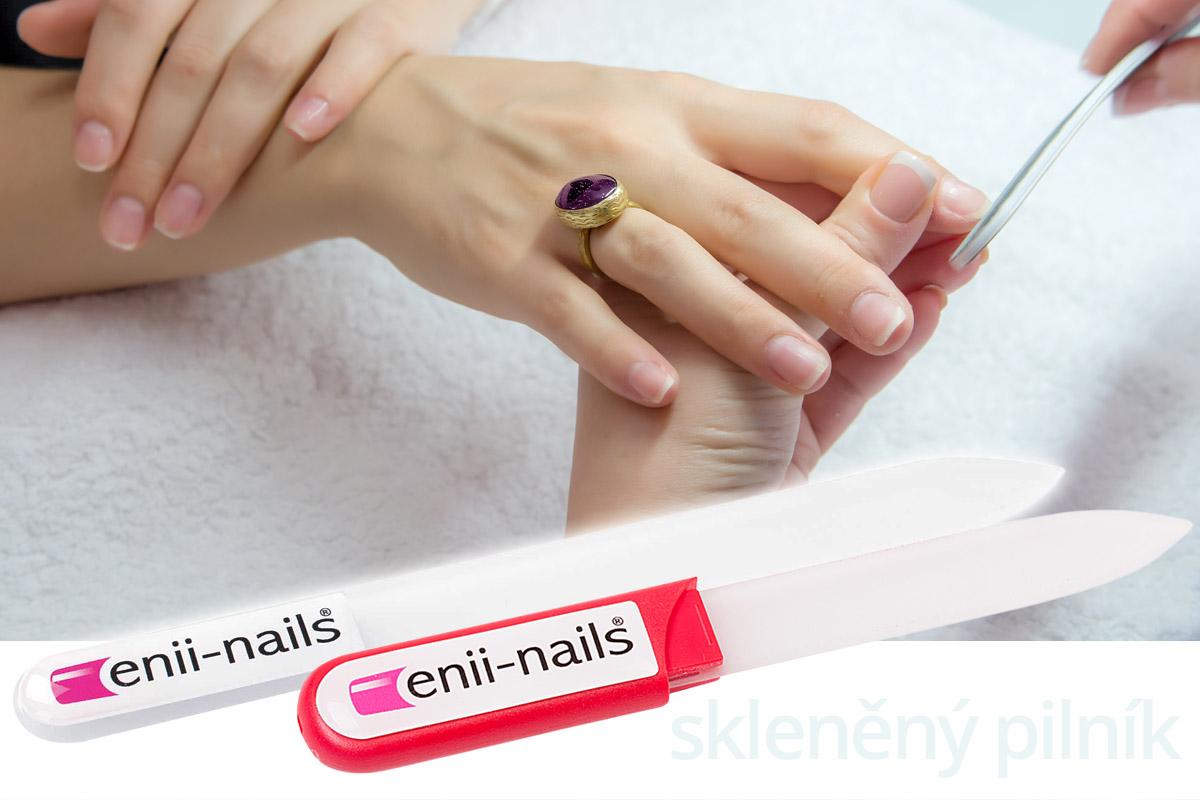 Skleněný pilníky Enii-nails jsou hygienické, funkční a mají téměř neomezenou životnost, protože se neztupí.