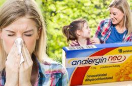Trpíte alergiemi? Příznaky vám pomáhá zlepšit účinná látka Levocetirizini dihydrochloridum obsažená v přípravku Analergin Neo.