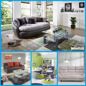 Pohovky umí odlehčit interiér obývacího pokoje.