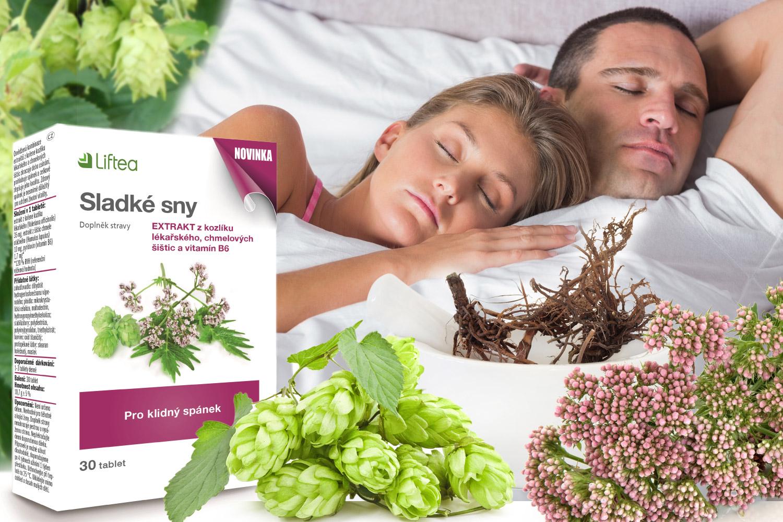 Problémy se spánkem potkají v životě každého. Pokud jde o jednorázovou záležitost, snadno deficit dospíme. Pokud se ale nekvalitní spánek stane spíše pravidlem, je třeba najít řešení. Tím jsou bylinné doplňky stravy, jakým je Liftea Sladké sny. Obsahuje účinné byliny na spaní, kterými jsou kozlík lékařský a chmel otáčivý.