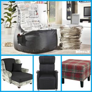 Křesla a taburety se dnes stávají designovým ozvláštněním obývacího pokoje. Rozhodně nemusí být stejné jako sedací souprava.
