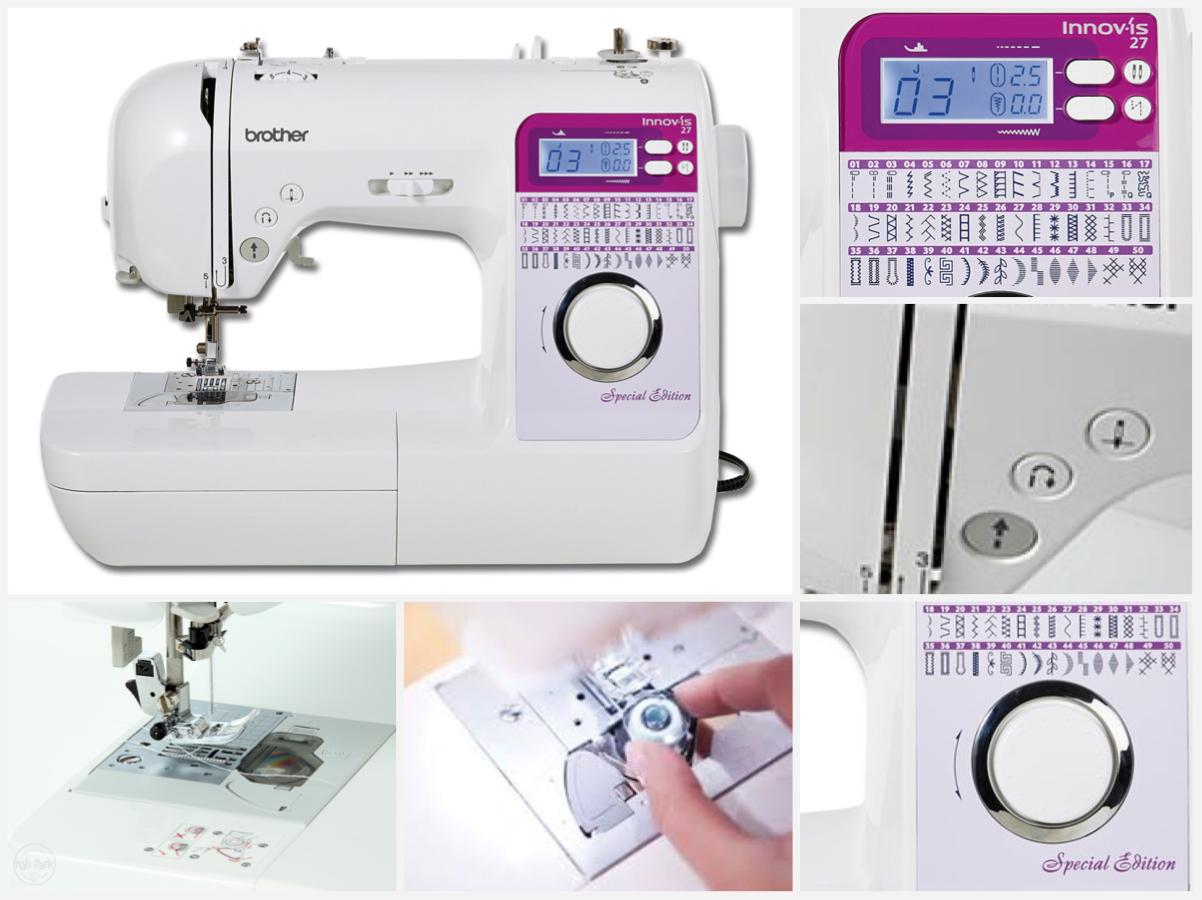 Kvalitní šicí stroj Brother Innov-Is 27SE ve speciální edici se nyní prodává za výhodnější cenu. Nabízí 50 programů a mnoho užitečných funkcí. Umožňuje i šití s volným ramenem.