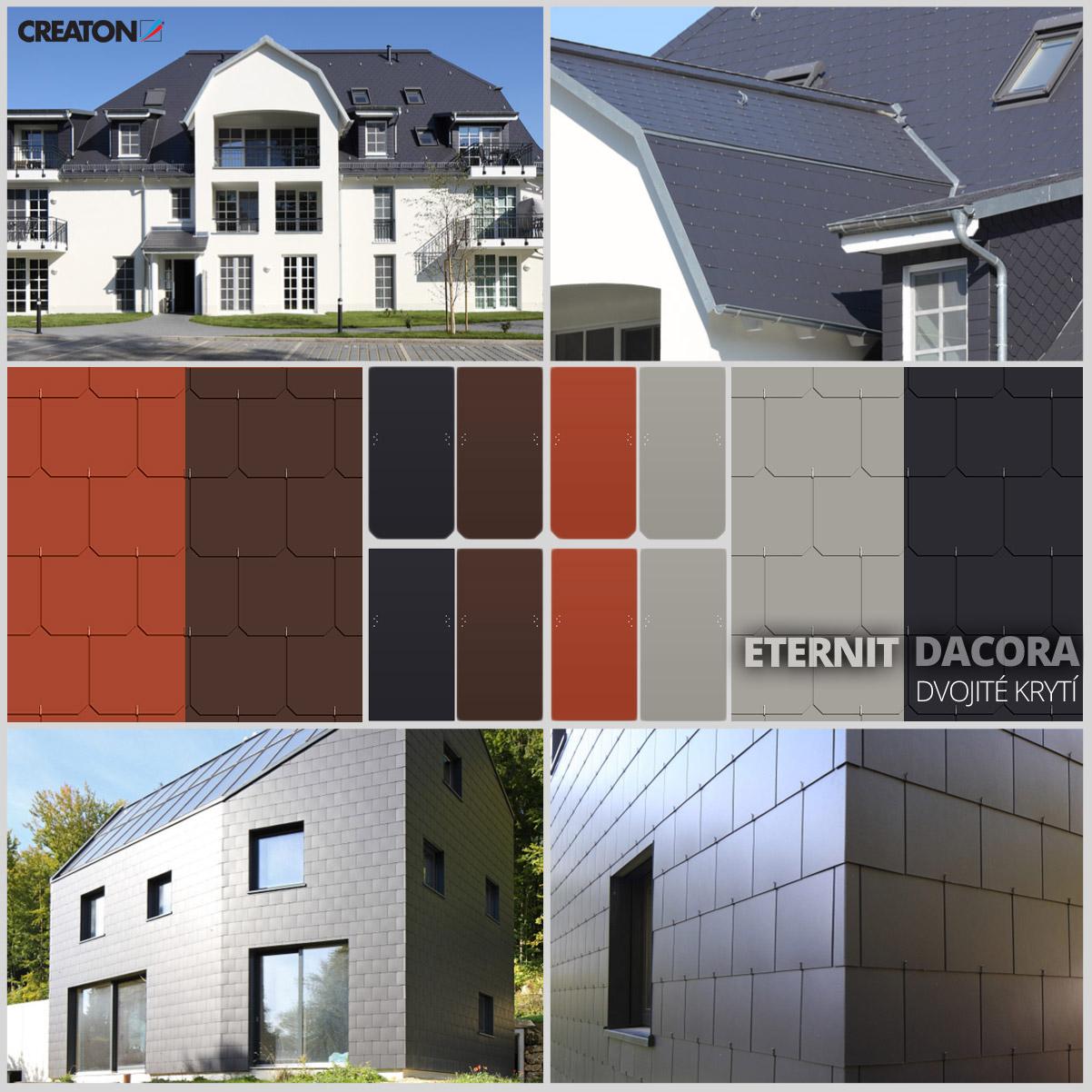 Vláknocementová krytina se vrací na moderní i tradiční stavby.
