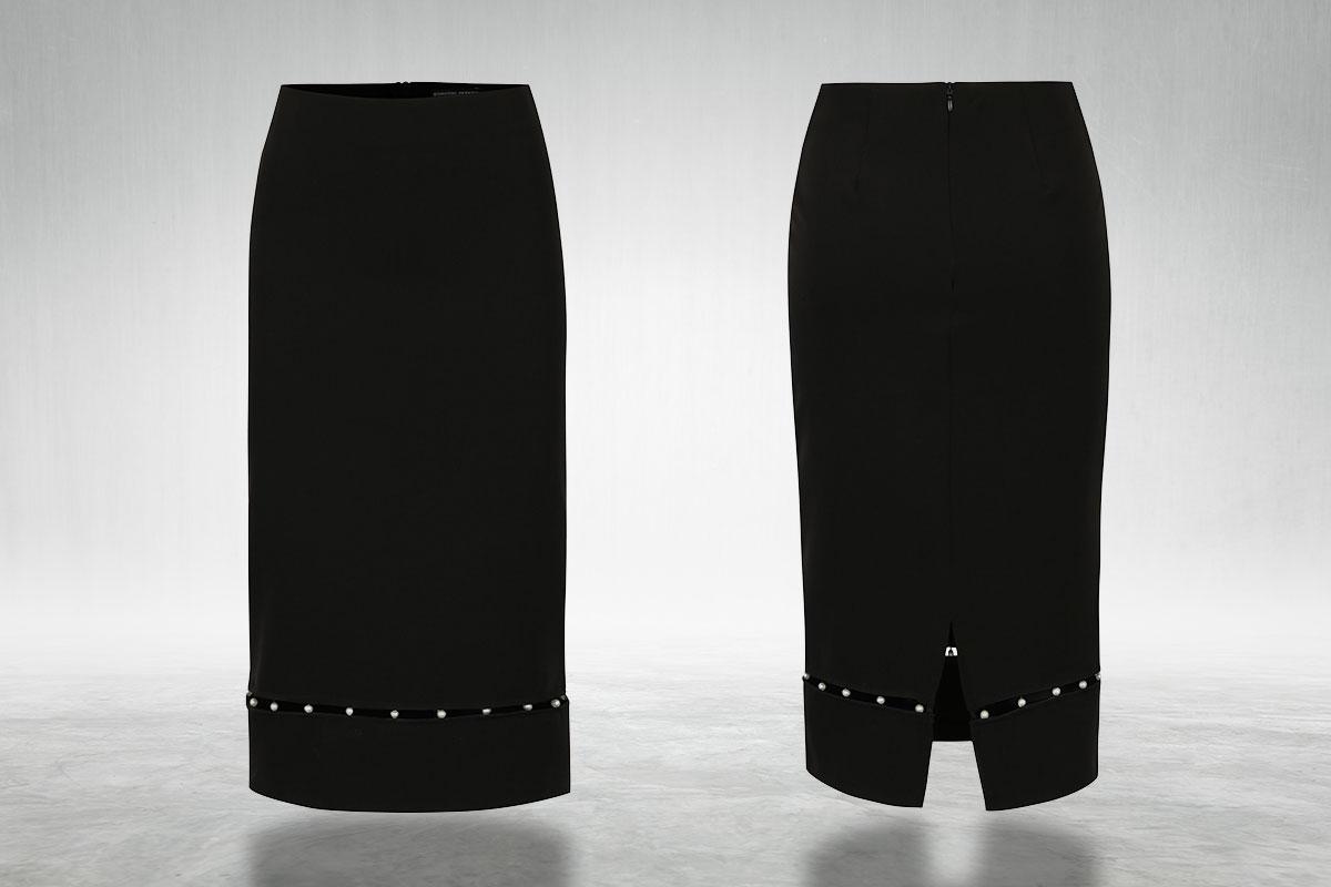 Černá pouzdrová sukně s korálky Dorothy Perkins ze ZOOT.