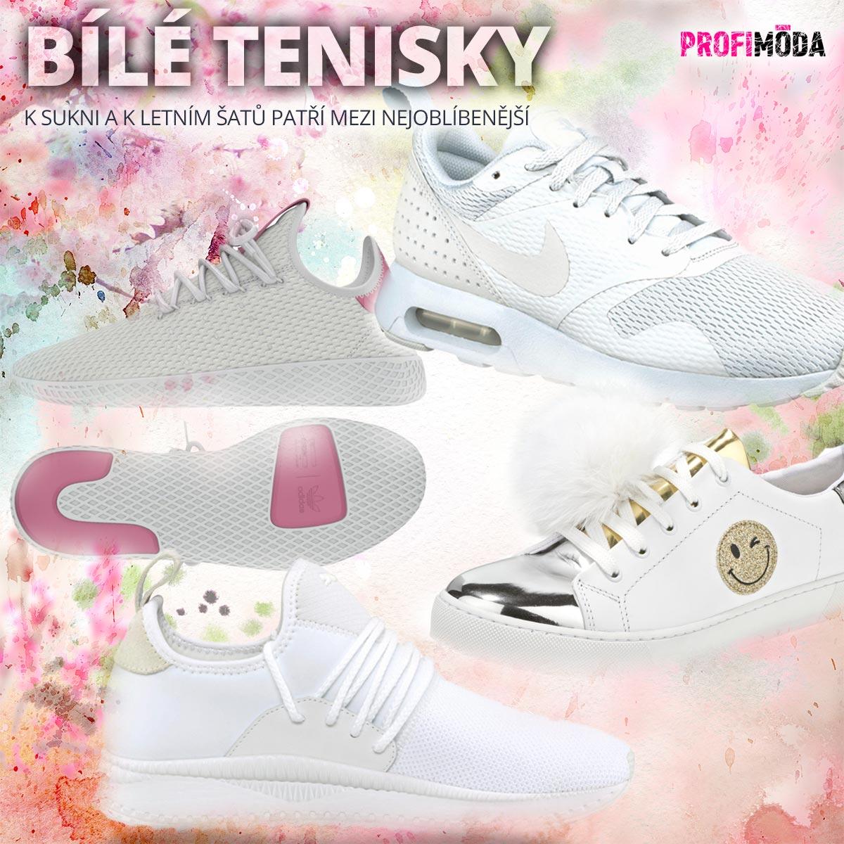 Bílé tenisky k sukni a k letním šatů patří mezi nejoblíbenější. Už máte ty své?