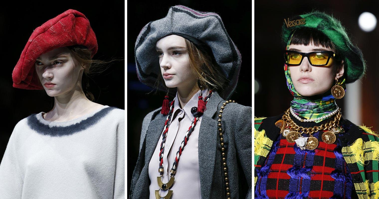 Na podzim a v zimě 2018/2019 nezapomeňte na stylový baret.