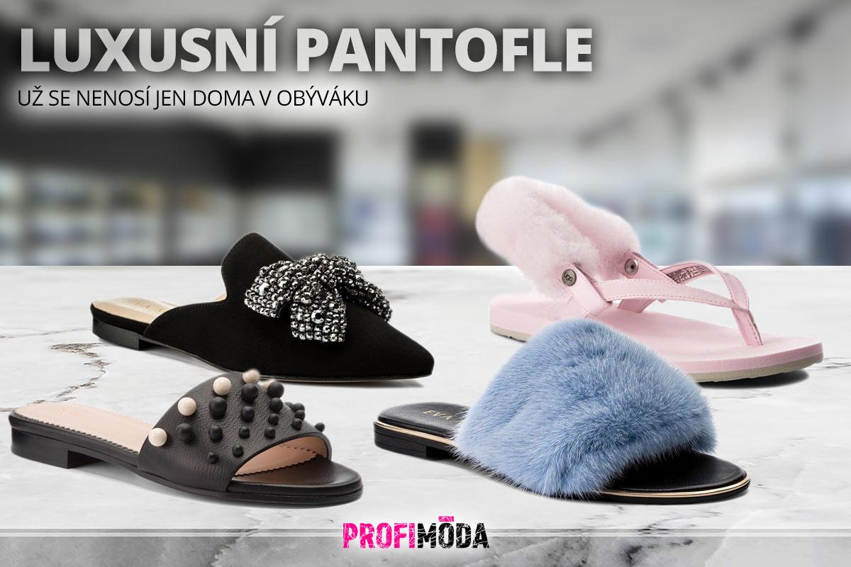 Obujte si do města luxusní pantofle – třeba ozdobeny labutěnkou nebo kožíškem.