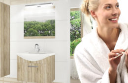 Koupelnová sestava dodá vaší koupelně řád i design.