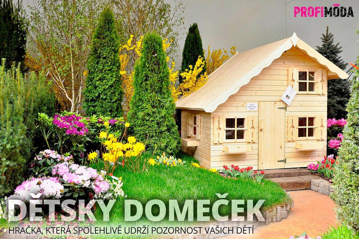 Dřevěné domečky patří mezi nejoblíbenější hračky.