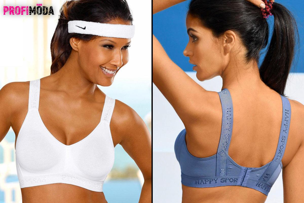 Sportovní podprsenka z bavlny s 10% přídavkem elastanu. Je pohodlná zejména jako volnočasové spodní prádlo. Prodává se v balení po dvou kusech.
