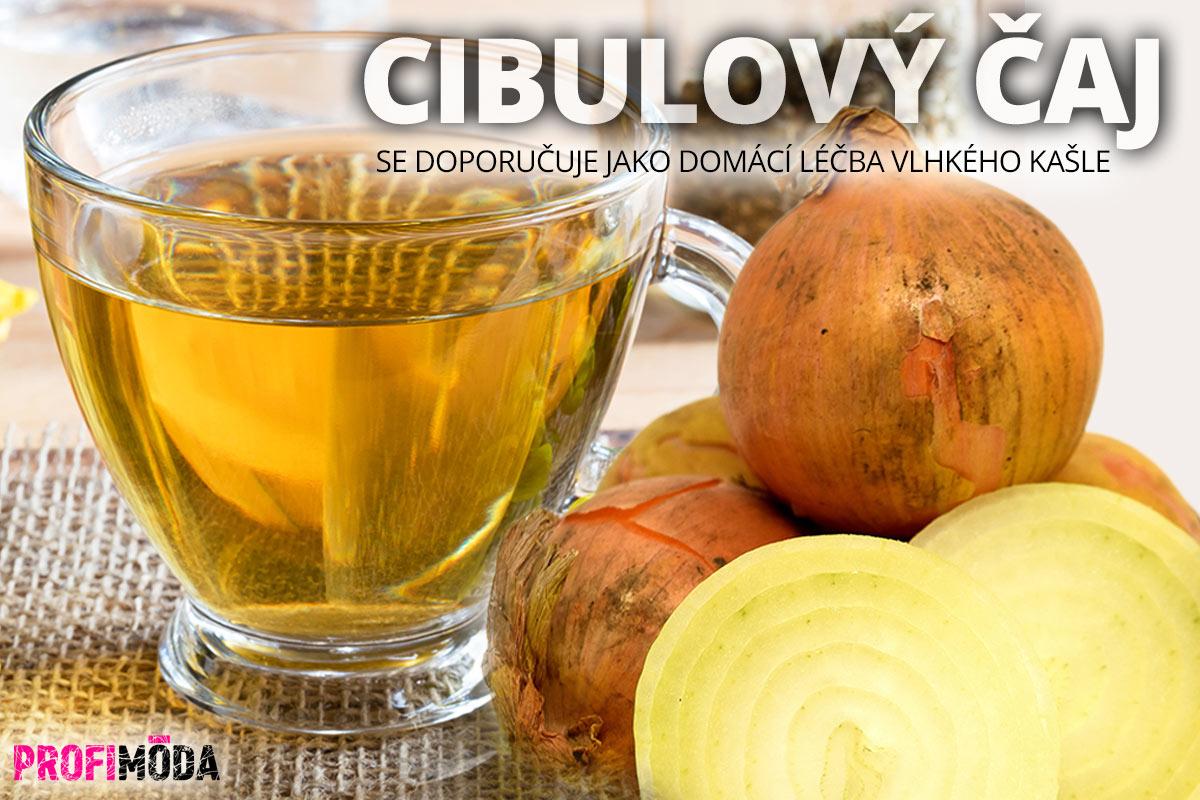 Cibulový čaj se doporučuje jako domácí léčba vlhkého kašle.