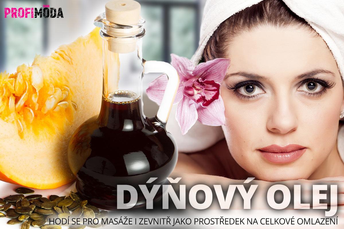 Dýňový olej pro krásu: Uplatněn najde ve vlasové, pleťové i v tělové kosmetice. Hodí se pro masáže i zevnitř jako prostředek na celkové omlazení.