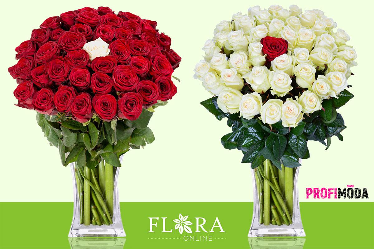 Věnujte růže unikátním způsobem: s jednou jinak barevnou růží.