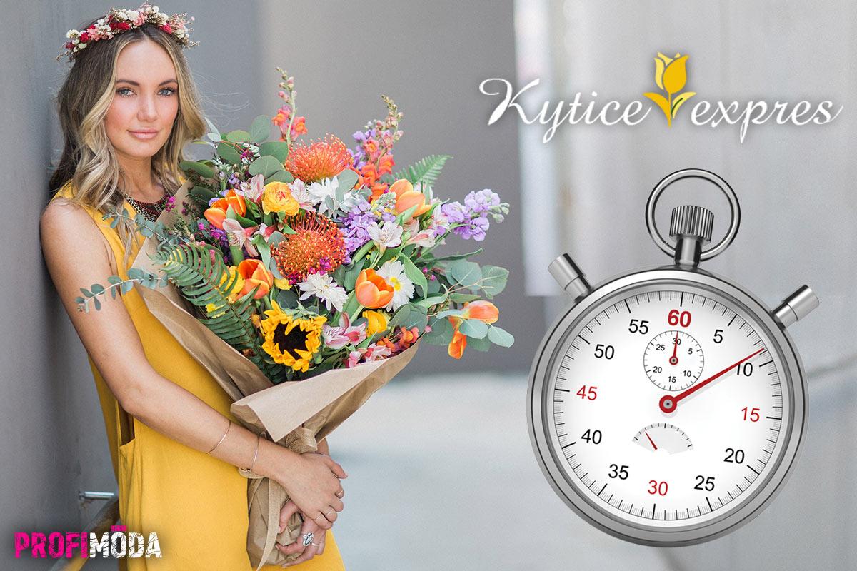 Skutečně květiny expres – někdy i do 60 minut od objednávky