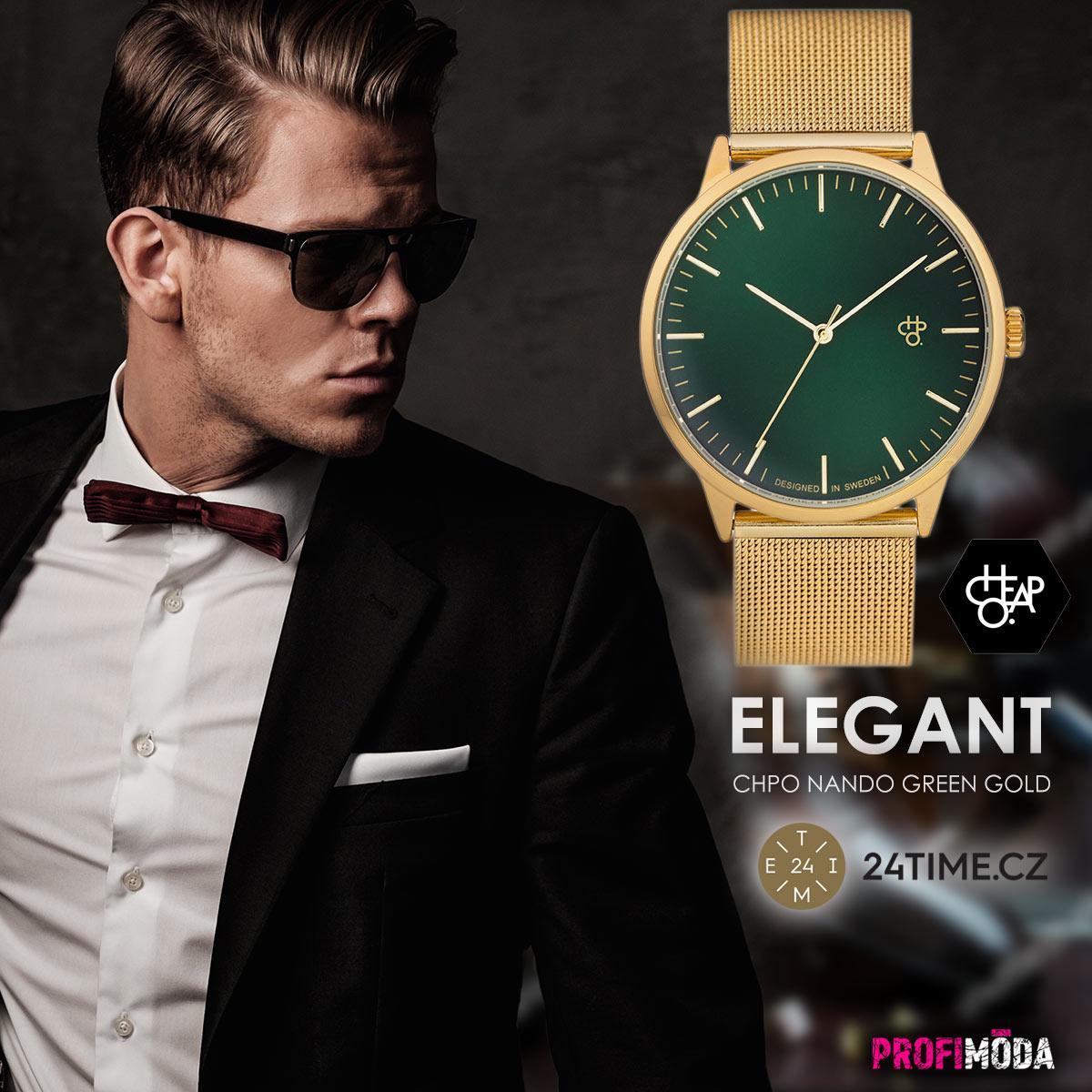 Elegance, unikátní design, ale i mimořádná kvalita, která není jen pro horních deset tisíc – to jsou hodinky švédské značky CHPO.