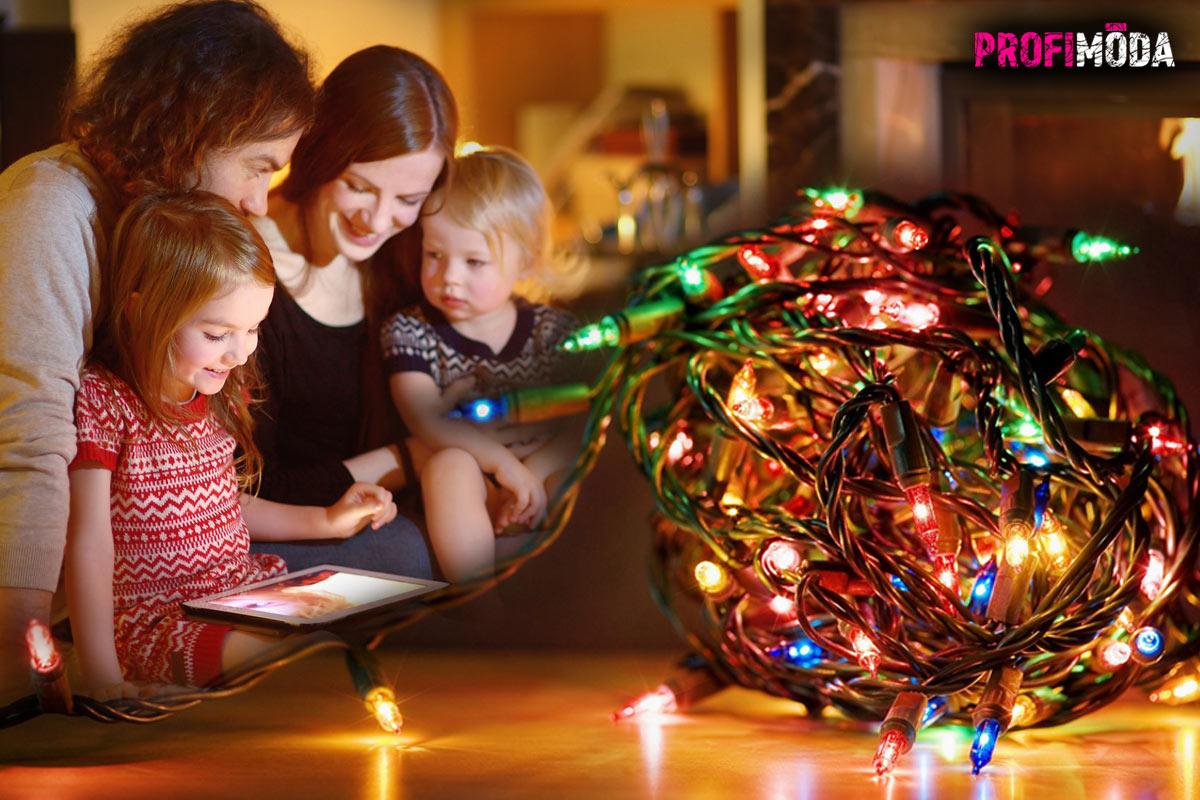 Vánoční osvětlení dodává Vánocům tu správnou atmosféru.