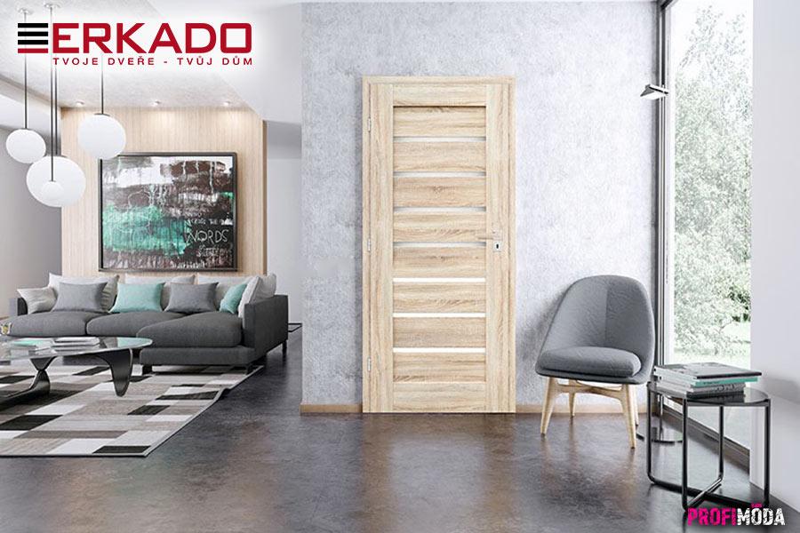 Interiérové dveře Malva 1 jsou opatřeny estetickým zasklením bez použití rámečku. Dveřím tato forma zasklení přidává luxusní vzhled.