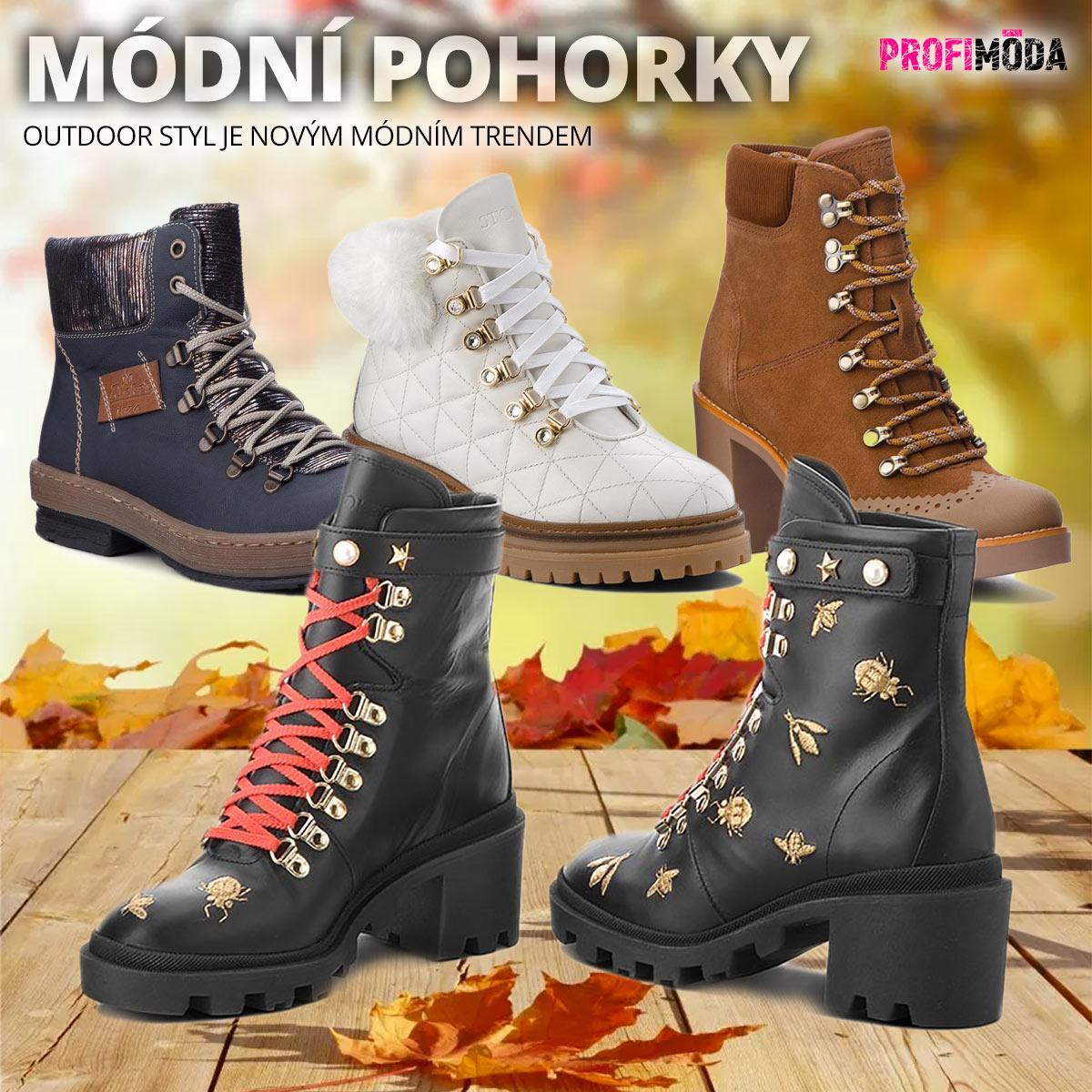 Podzimní dámská obuv 2018 našla zalíbení v prvcích outdoorové obuvi.