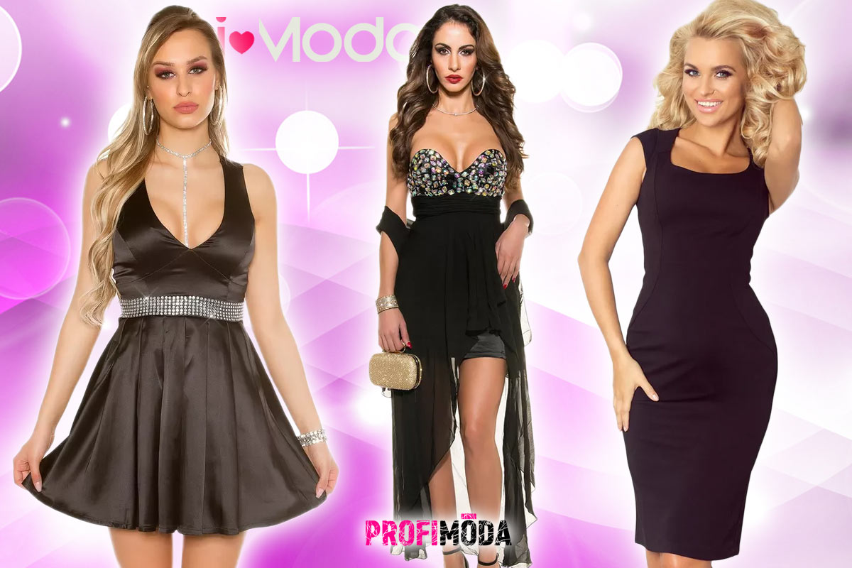 50a797a8e00 Černé koktejlové šaty jsou klasika