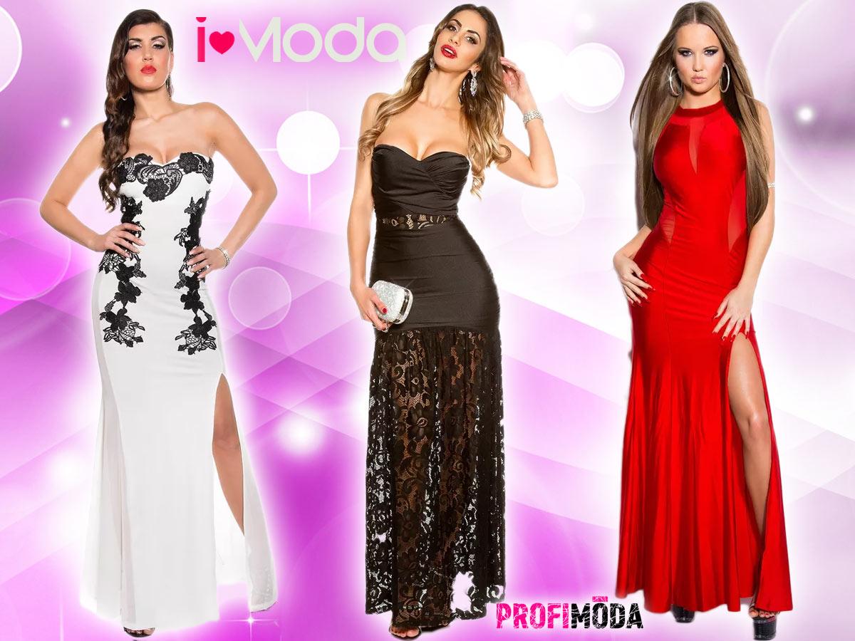 Dlouhé šaty na ples jsou ideálně jednobarevné.