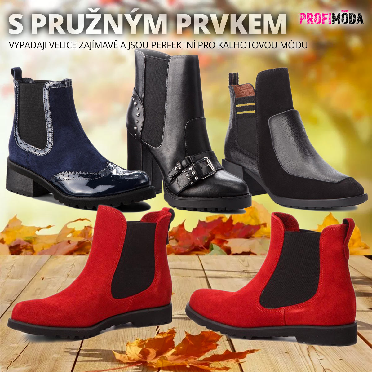 Boty jako jezdecká perka s pružnou vsadkou po straně patří mezi hit v dámské obuvi pro podzim 2018.