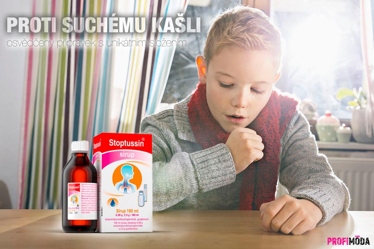 Proti suchému kašli pomáhá Stoptussin.