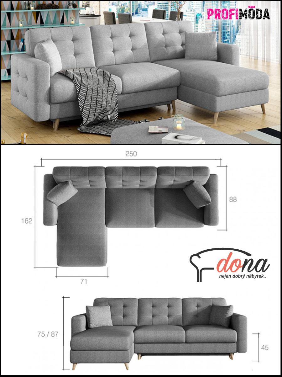 Pokud nemáte pokoj pro hosty, volte do obývacího pokoje rozkládací sedačku. I modely do U pořídíte jako rozkládací.