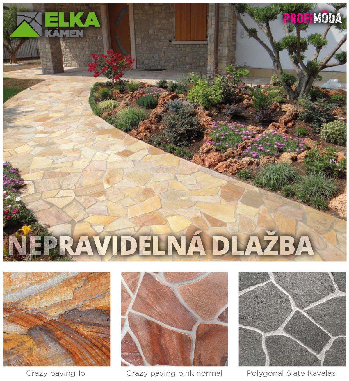 Přírodní kamennou dlažbu ta betonová nikdy po stránce designu plnohodnotně nenahradí.