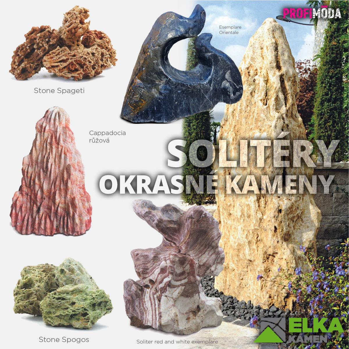 Okrasné kameny v podobě obřích solitérů či obelisků dokážou být pýchou zahrady.