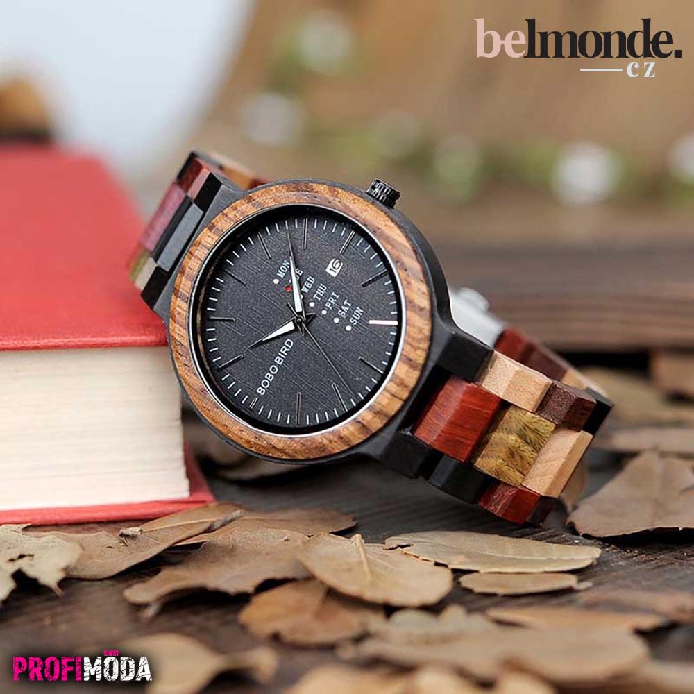 Pánské dřevěné hodinky Waltier.