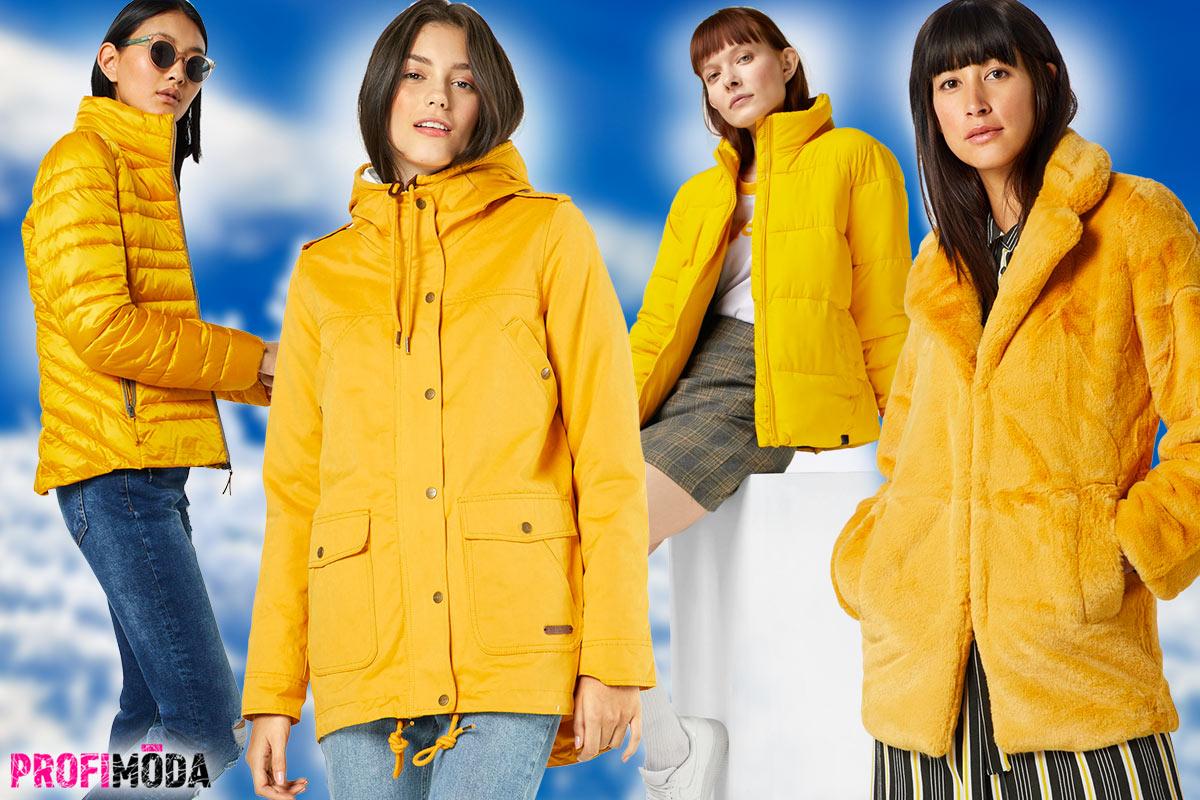 Kanárkově žluté dámské zimní bundy v sezóně 2028/2019 skutečně letí. Rozzáří i váš šatník?