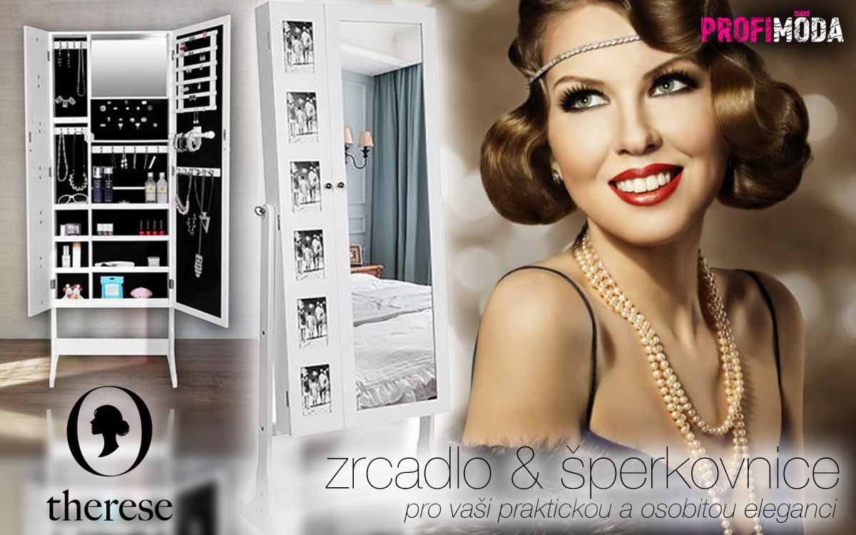 Velká zrcadla, s úložným prostorem i šperkovnicí, dokážou být vždy po ruce, když potřebujeme rychle zapracovat na svém vzhledu.