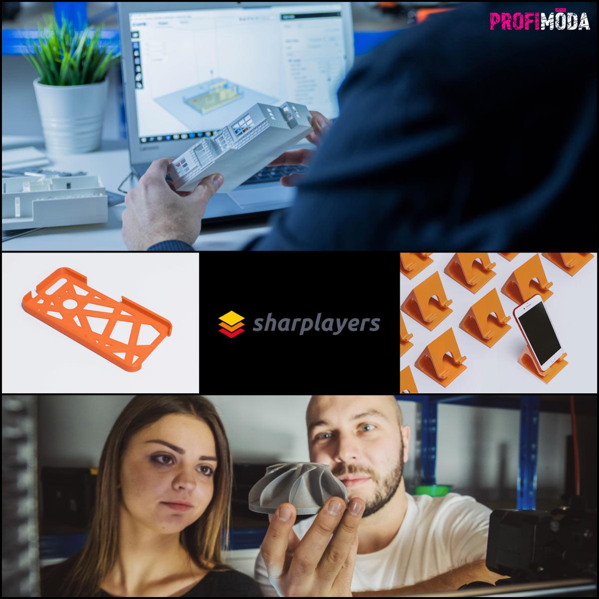 Sharplayers je startup, který pomáhá rovněž designérům, módním návrhářům a šperkařům realizovat jejich kreativní vize.