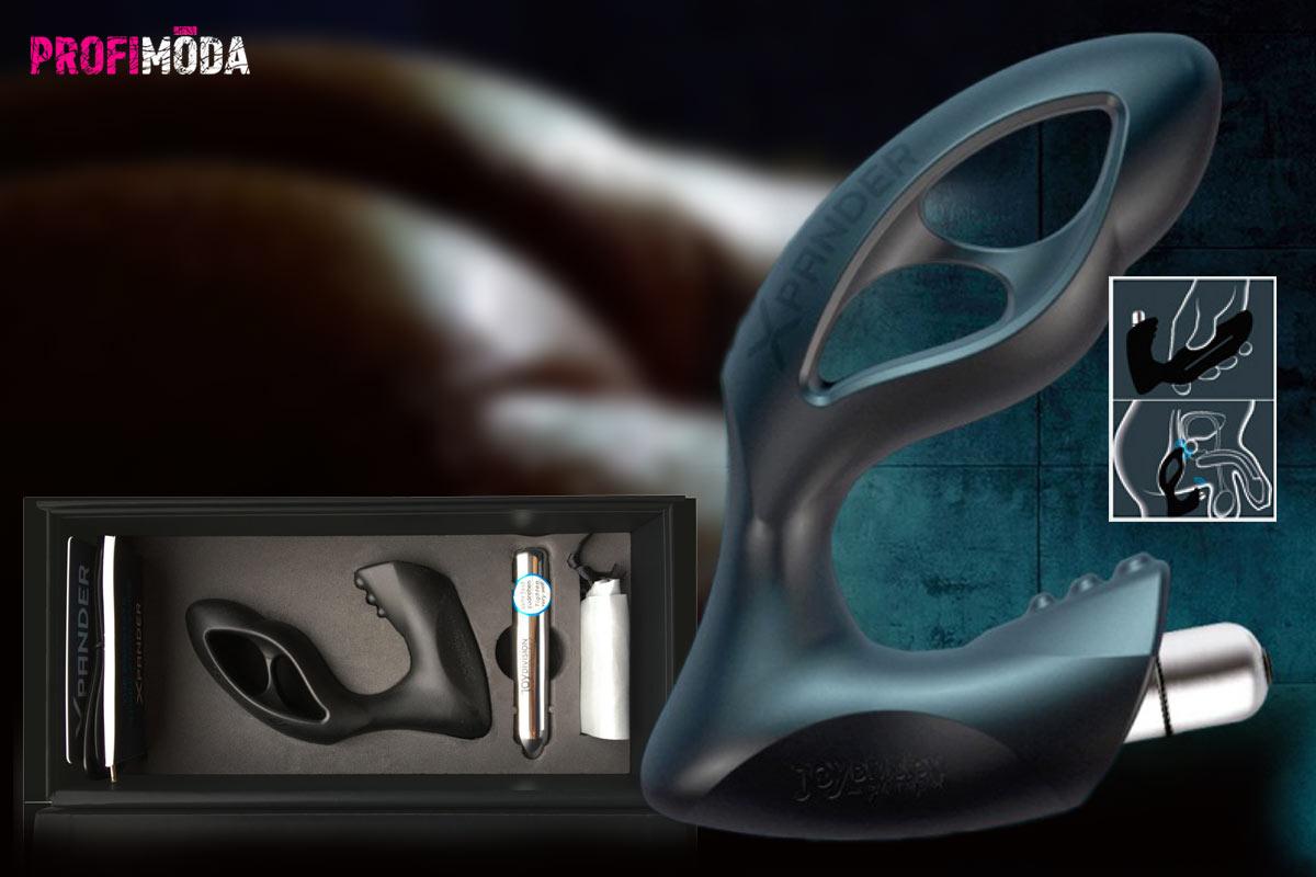 Pro masáž prostaty zkuste roztahovací anální kolík XPander s vibrační patronou.