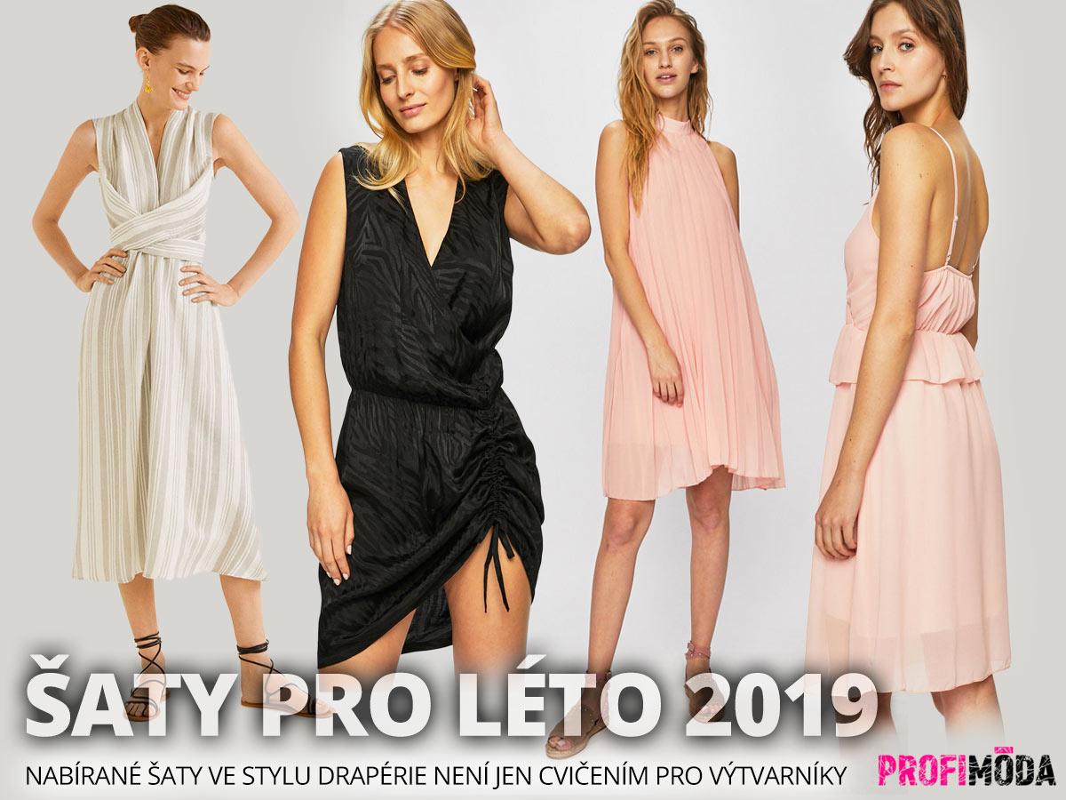 Šaty pro léto 2019: Nabírané šaty ve stylu drapérie koupíte na Answear.