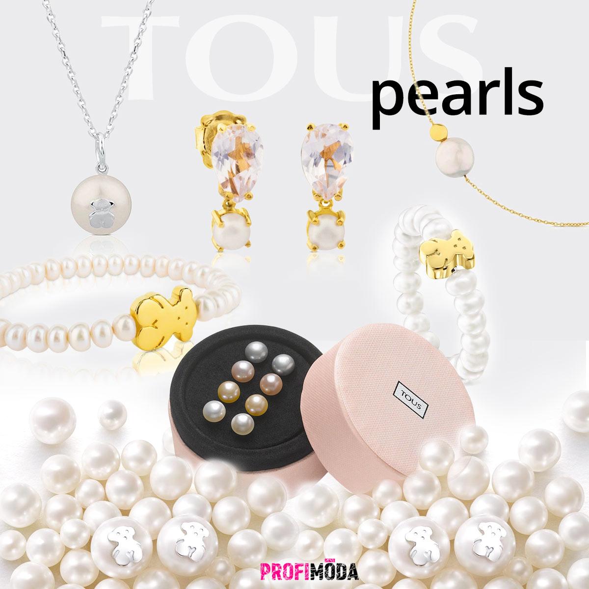 Každá žena by měla vlastnit perly. Základem jsou perlové náušnice. Později je můžete doplnit o další šperky s perlami. (Obrázek: Perlové šperky Tous)