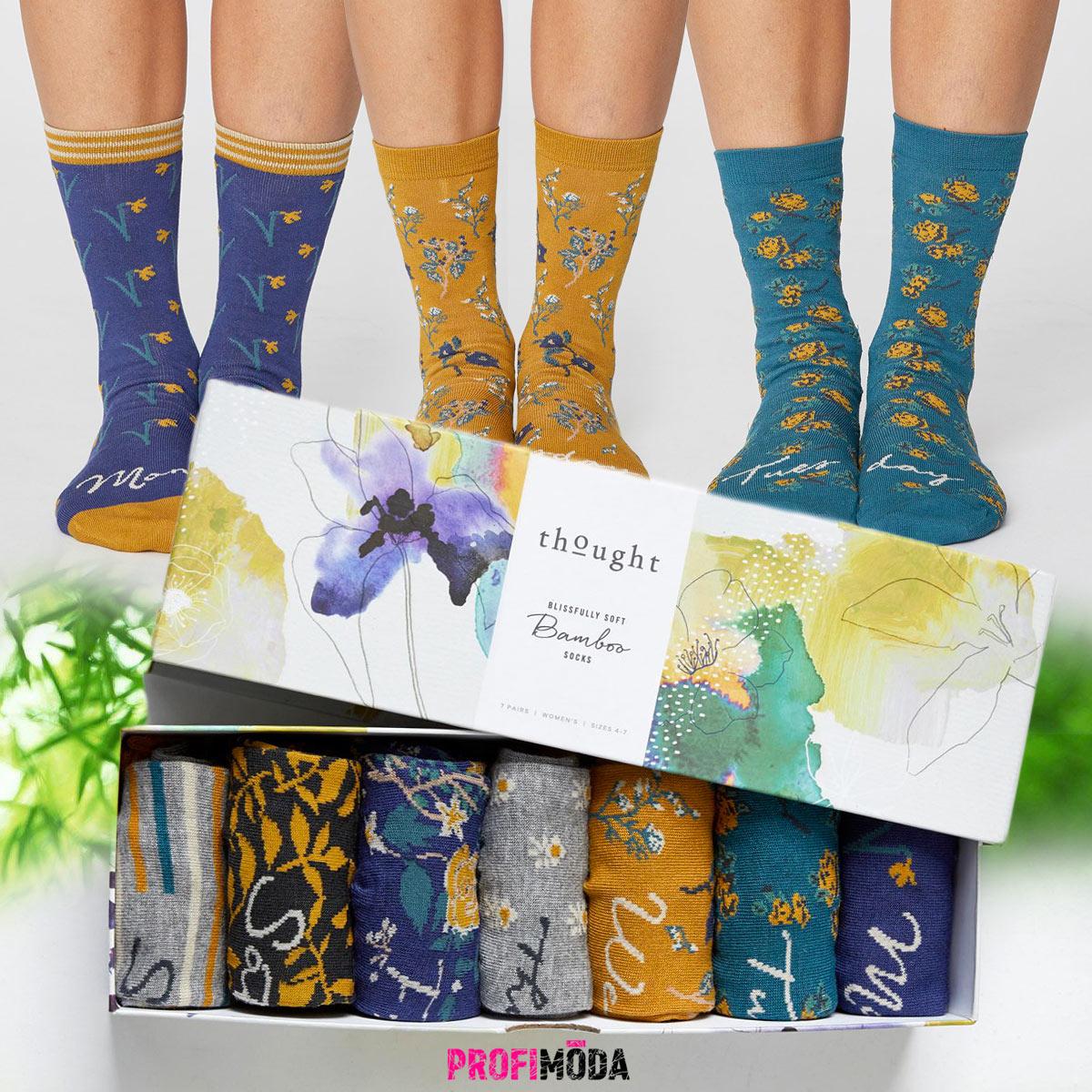 Veselé ponožky z bambusového vlákna jsou vzpruhou pro duši i tělo.