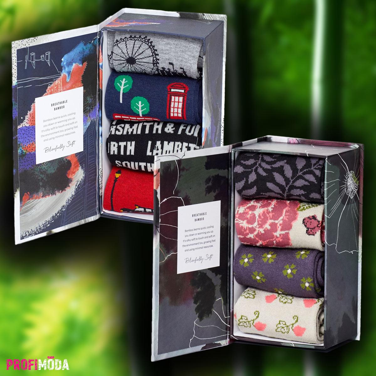 Ponožky jako dárek jsou opět hitem. Zejména ty bambusové, s příběhem a s vtipnými vzory.