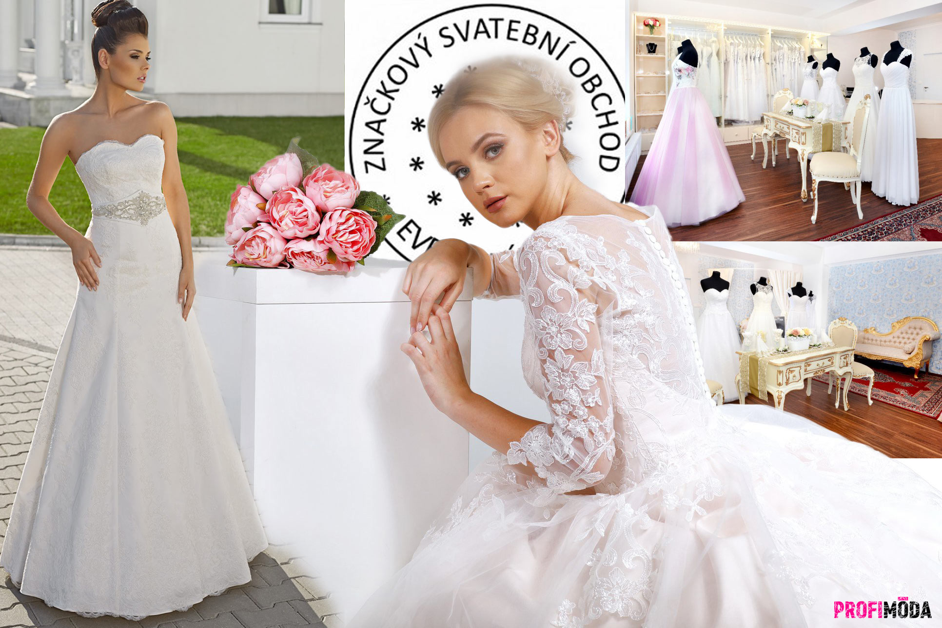 Svatba Zlín: Luxusní svatební šaty za ekonomické ceny pořídíte ve svatebním salonu REDUP Design.