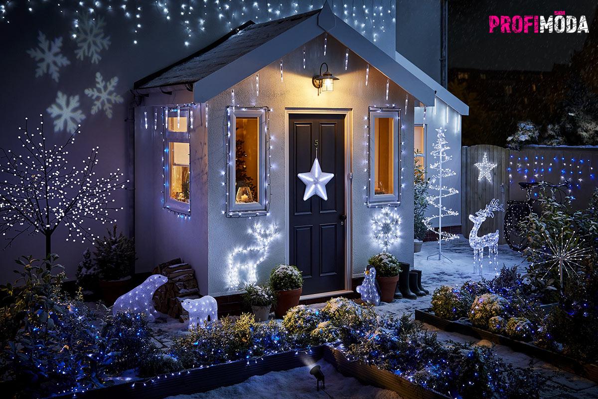 LED vánoční osvětlení je úsporné. Můžete si dovolit skutečně impozantní světelné dekorace.