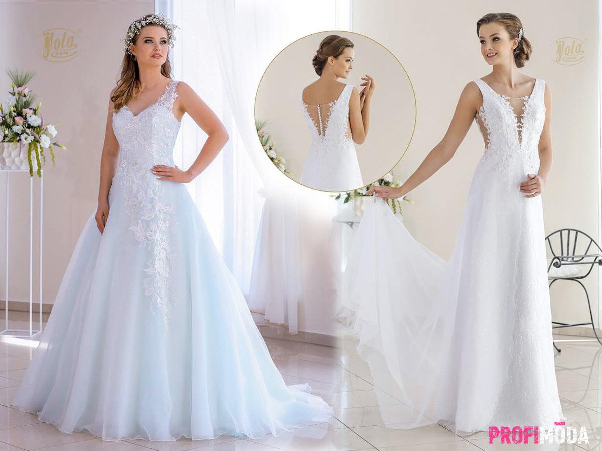 Ve zlínském svatebním salonu si všechny šaty osobně vyzkoušíte.