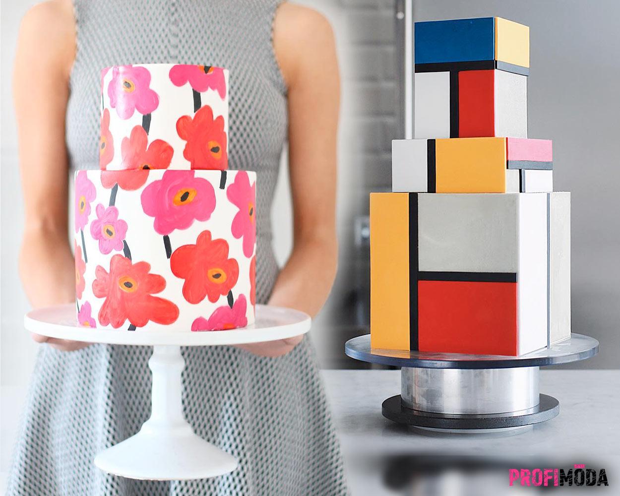 Cukrářské trendy 2020 mění dorty ve známé obrazy.