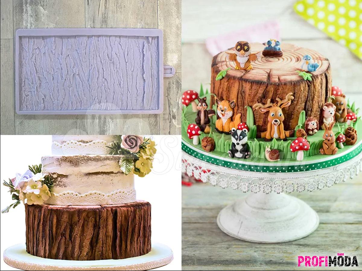 Co byste řekli na takto parádní vánoční dort? Silikonovou formu s kůrou prodává e-shop Svetcukraru.cz.