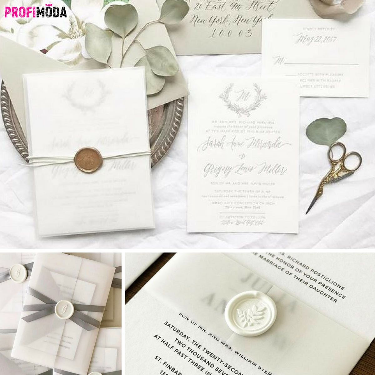 U svatebního oznámení se cení originality. Hitem je kvalitní tisk doplnit špetkou naší ruční práce. (Zdroj: Flemingsprintedaffair.com)