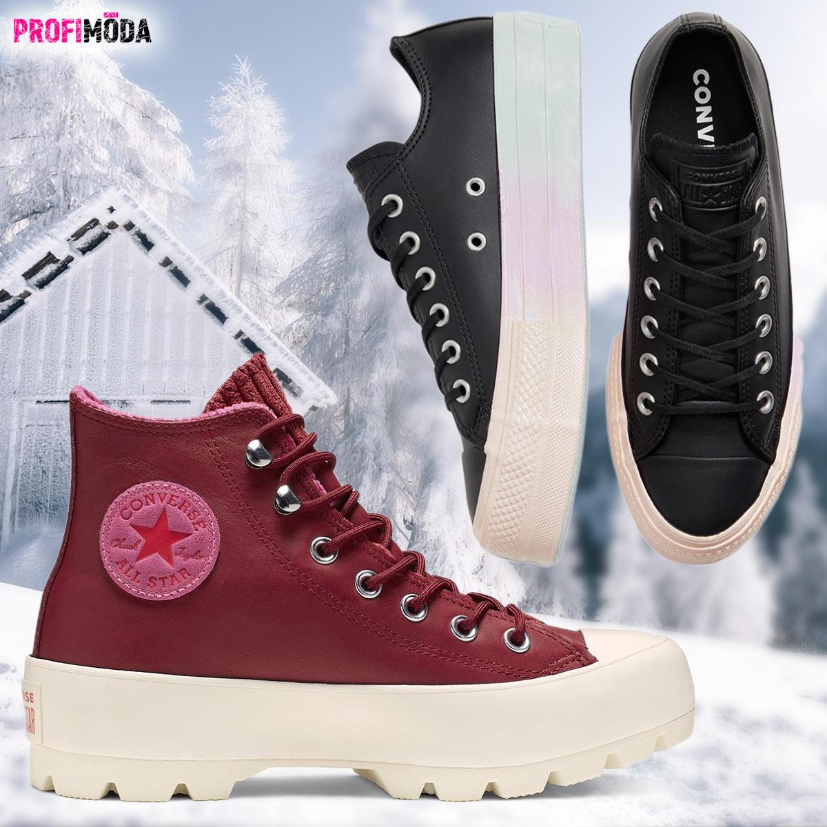 Conversky jako trendy zimní obuv 2020: Jsou na vyšší podrážce a z kůže.