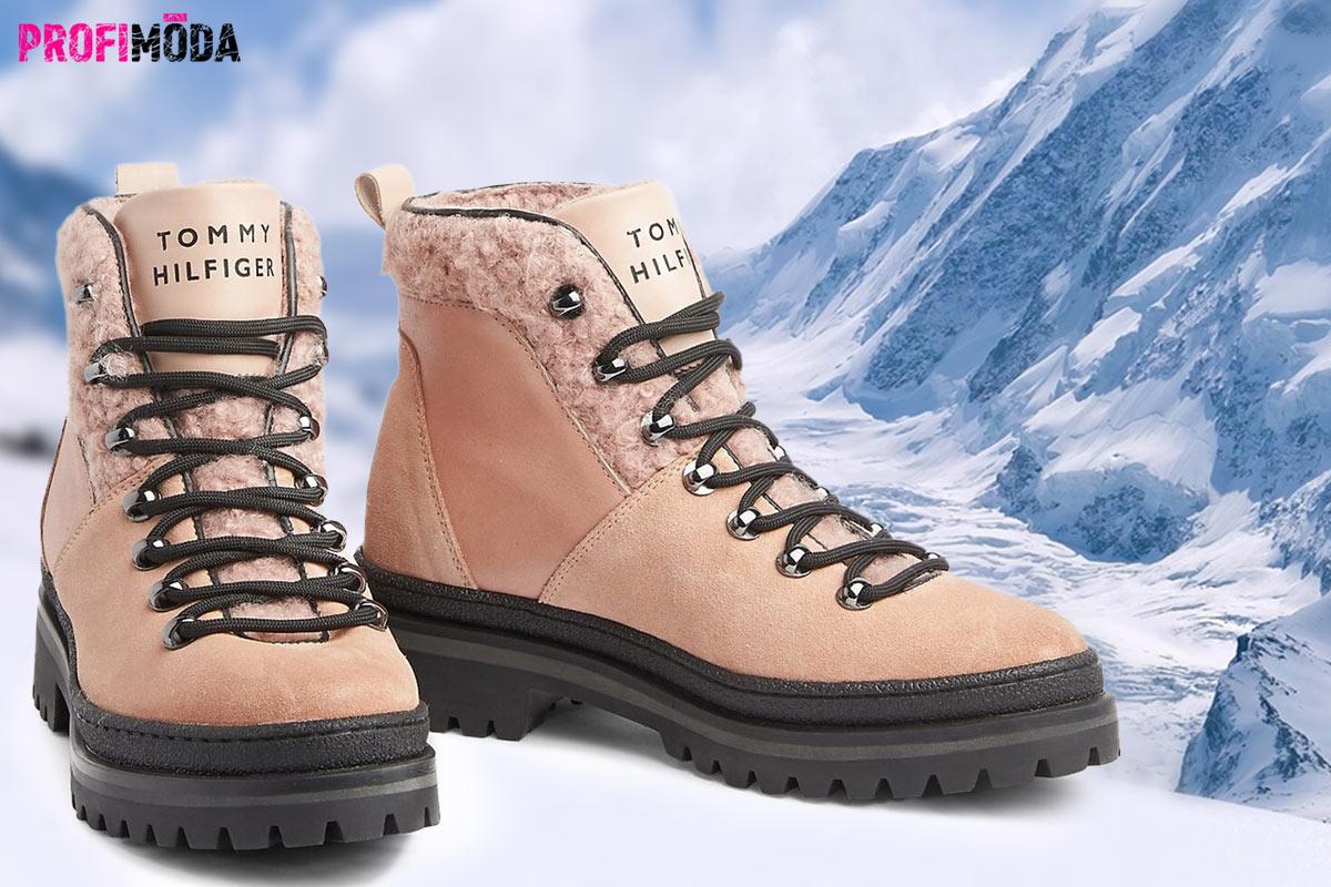 Luxusní semišové či kožené boty jako teplé pohorky patří mezi další trendy obuv pro zimu 2020.