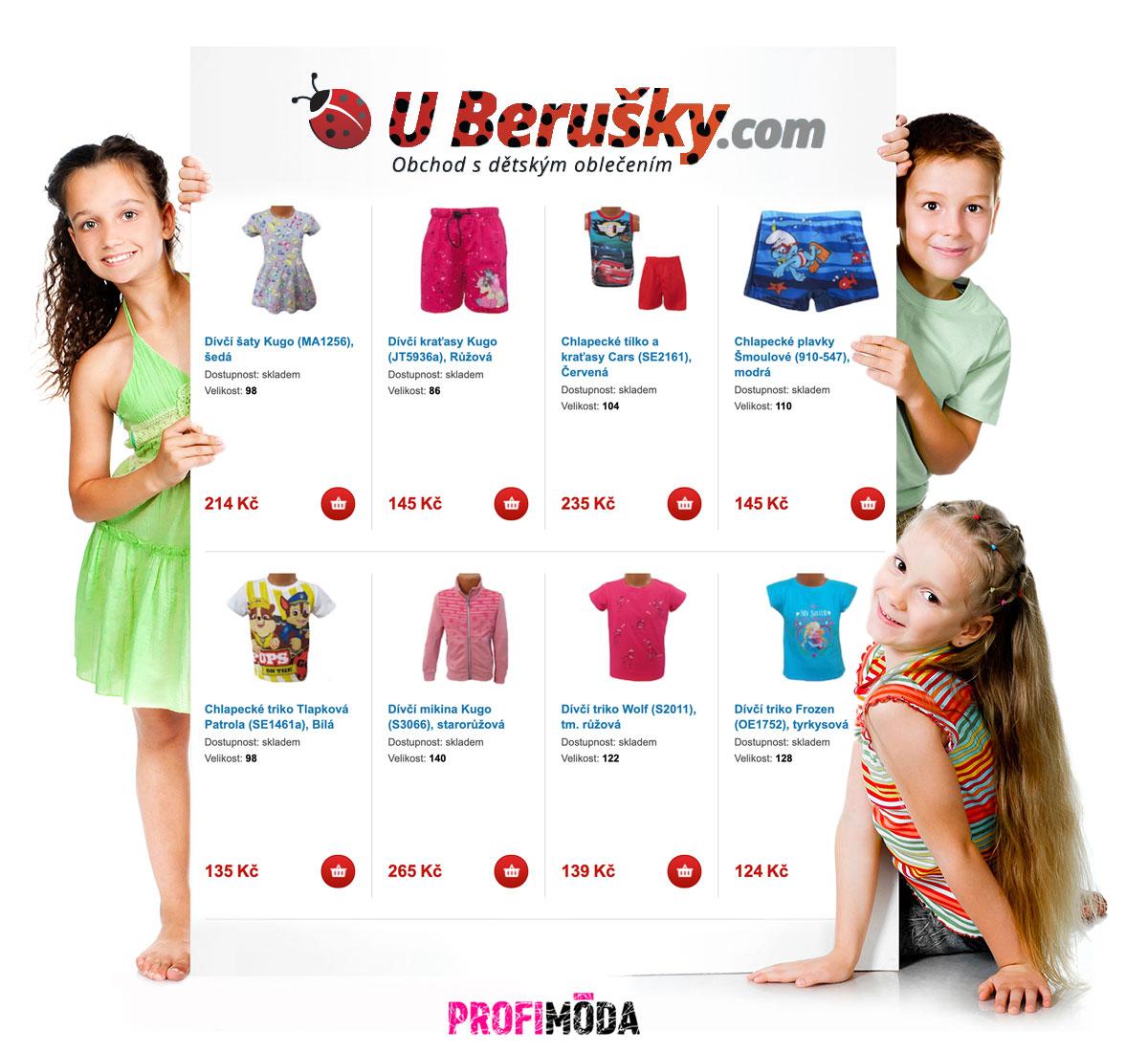 E-shop U Berušky obleče předškoláky i školáky – prakticky a do oblečení, které se dětem líbí.