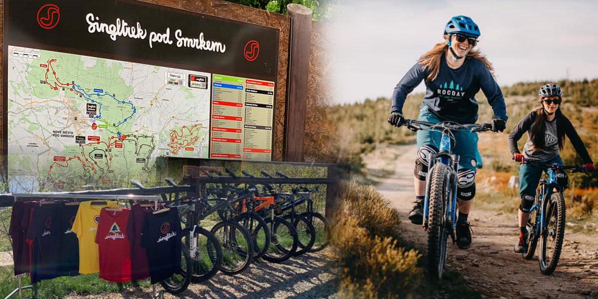Doplňte si funkční výbavu a vyrazte třeba na Singltrek pod Smrkem, do ráje pro všechny milovníky stezek pro horská kola.